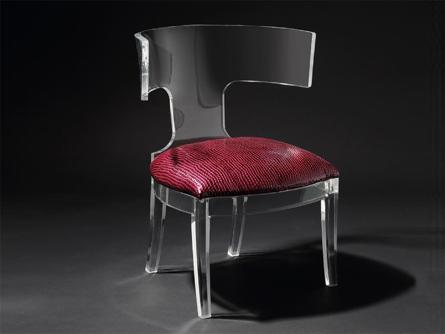 T-BACK OCCASIONAL CHAIR (CLEAR)