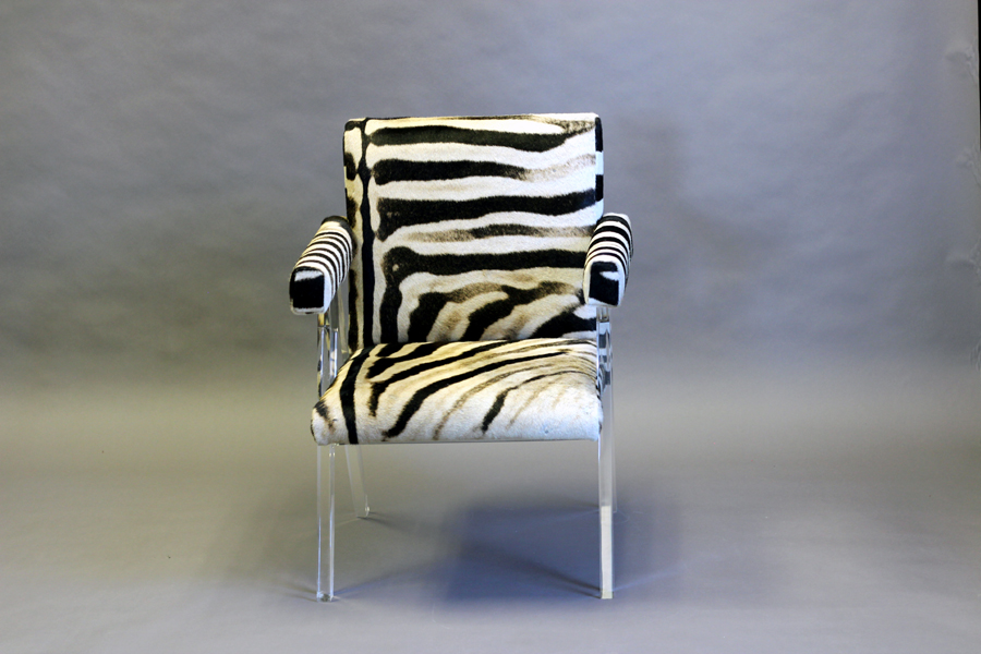 ANGELLE CHAIR (ZEBRA HIDE)