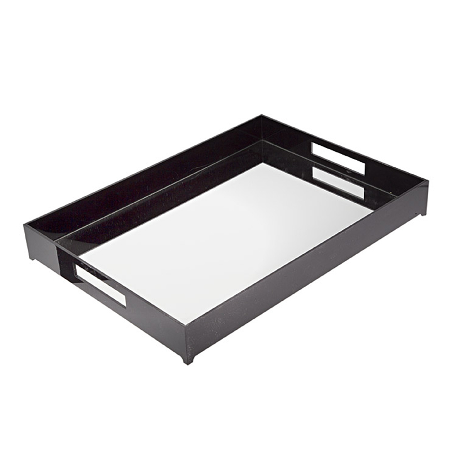 BLACK MIRRORED TRAY
