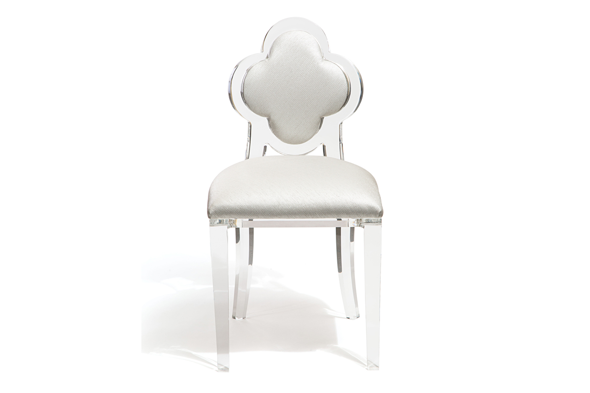 CLOVER BACK CHAIR - CLEAR