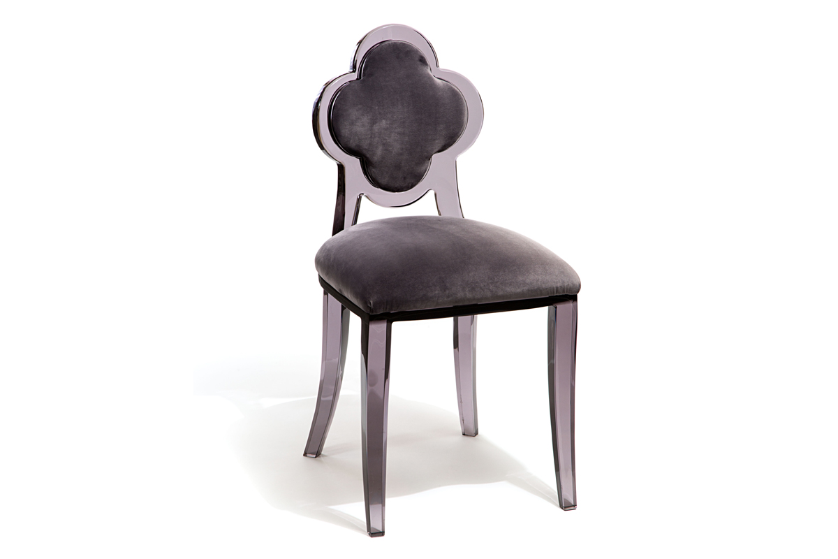 CLOVER BACK CHAIR - SMOKEY