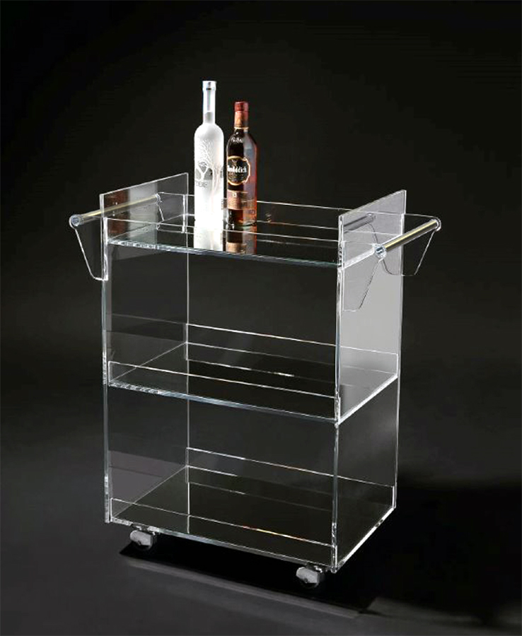 EXECUTIVE BAR CART (WITH STAINLESS STEEL HANDLES)