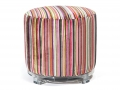 AVA OTTOMAN (ROUND RAINBOW STRIPES)
