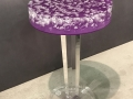 ROUND BUBBLE TOP SIDE TABLE WITH COLOR