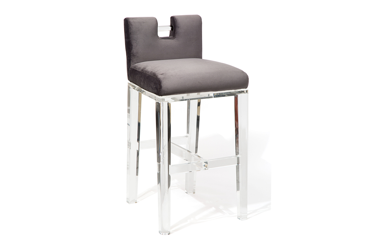 HANDLE BACK SWIVEL BAR STOOL