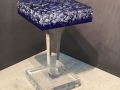 SQUARE BUBBLE TOP SIDE TABLE WITH COLOR