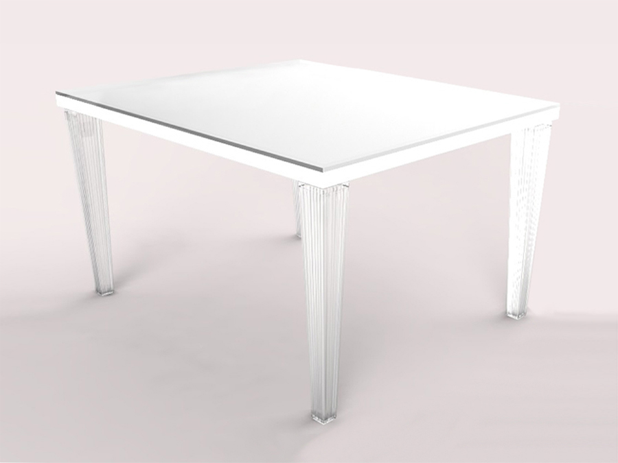 ACRYLIC FLUTED DINING TABLE